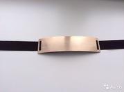 Новый ремень с металлической пластиной